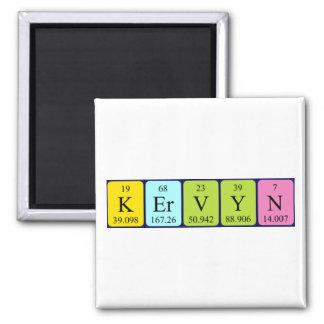 Imán del nombre de la tabla periódica de Kervyn