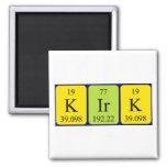 Imán del nombre de la tabla periódica de Kirk