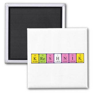 Imán del nombre de la tabla periódica de Kreshnik
