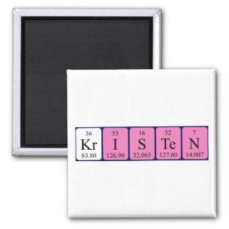 Imán del nombre de la tabla periódica de Kristen