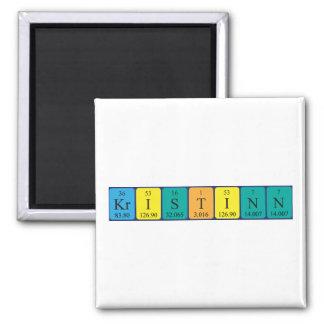 Imán del nombre de la tabla periódica de Kristinn
