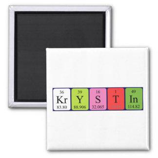 Imán del nombre de la tabla periódica de Krystin