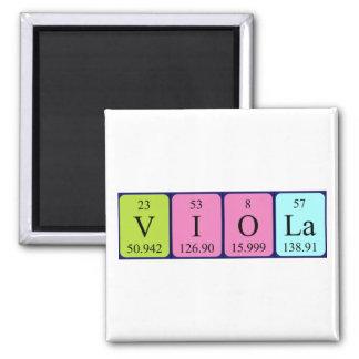 Imán del nombre de la tabla periódica de la viola