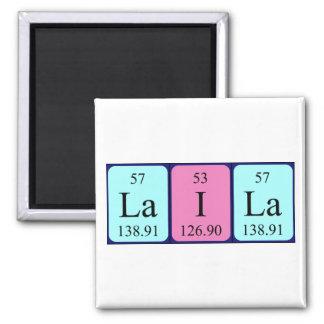 Imán del nombre de la tabla periódica de Laila