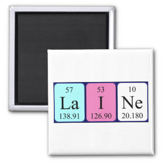Imán del nombre de la tabla periódica de Laine