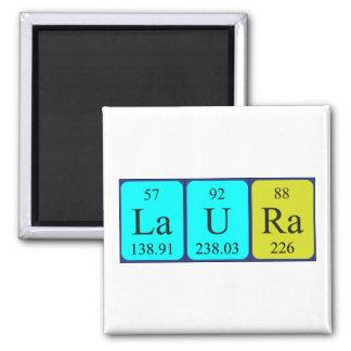 Imán del nombre de la tabla periódica de Laura