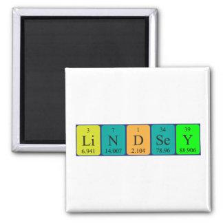 Imán del nombre de la tabla periódica de Lindsey