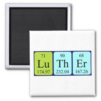 Imán del nombre de la tabla periódica de Luther