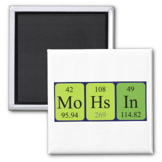 Imán del nombre de la tabla periódica de Mohsin