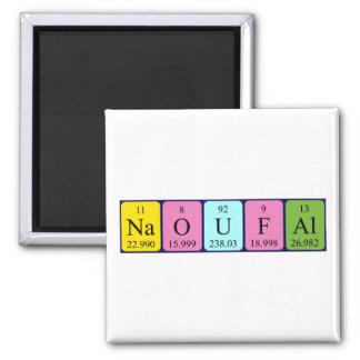 Imán del nombre de la tabla periódica de Naoufal