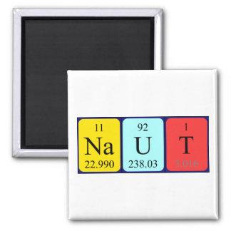 Imán del nombre de la tabla periódica de Naut