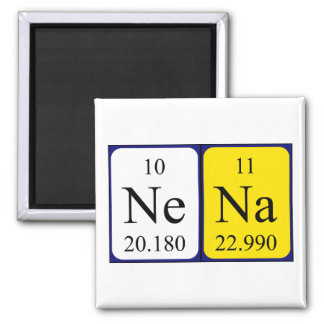 Imán del nombre de la tabla periódica de Nena