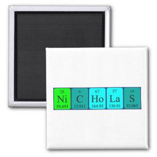 Imán del nombre de la tabla periódica de Nicholas
