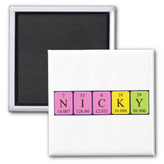 Imán del nombre de la tabla periódica de Nicky