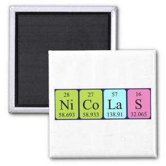 Imán del nombre de la tabla periódica de Nicolás