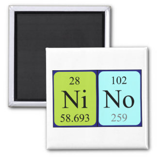 Imán del nombre de la tabla periódica de Nino
