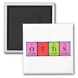 Imán del nombre de la tabla periódica de Ottis