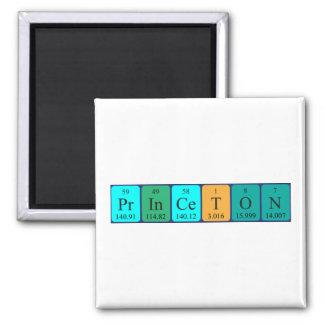 Imán del nombre de la tabla periódica de Princeton