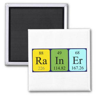Imán del nombre de la tabla periódica de Rainer