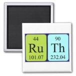Imán del nombre de la tabla periódica de Ruth