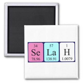 Imán del nombre de la tabla periódica de Selah