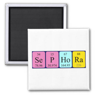 Imán del nombre de la tabla periódica de Sephora