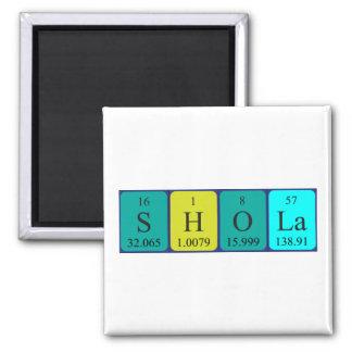 Imán del nombre de la tabla periódica de Shola