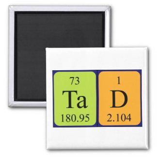 Imán del nombre de la tabla periódica de Tad