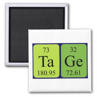 Imán del nombre de la tabla periódica de Tage