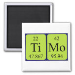 Imán del nombre de la tabla periódica de Timo