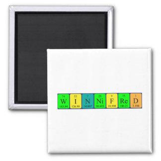 Imán del nombre de la tabla periódica de Winnifred
