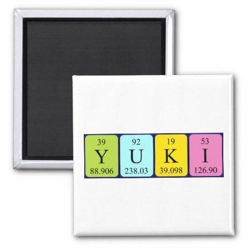 Imán del nombre de la tabla periódica de Yuki