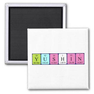 Imán del nombre de la tabla periódica de Yushin
