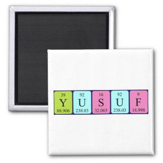 Imán del nombre de la tabla periódica de Yusuf