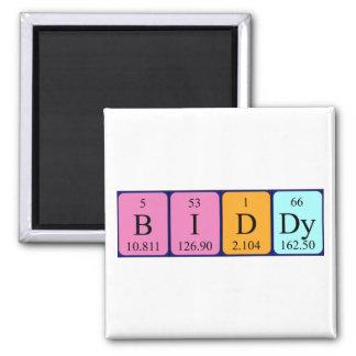 Imán del nombre de la tabla periódica del Biddy