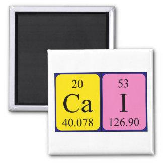 Imán del nombre de la tabla periódica del Cai