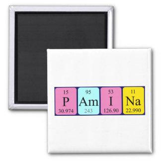 Imán del nombre de la tabla periódica del Pamina