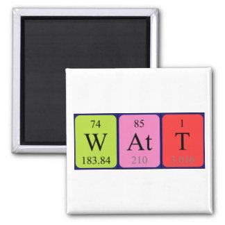 Imán del nombre de la tabla periódica del vatio
