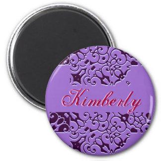 Imán del nombre del diseñador de Kimberly - person