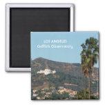 ¡Imán del observatorio de Griffith del LA! Imán Cuadrado