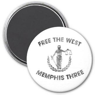 Imán del oeste de Memphis tres