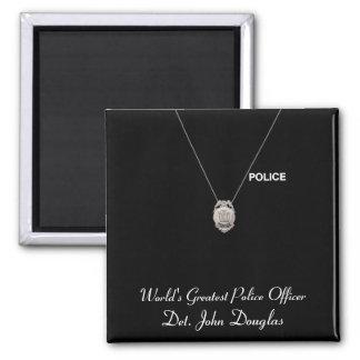 Imán del oficial de policía