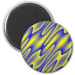 imán del oilprint de blue.yellow