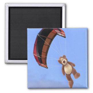 Imán del oso de peluche de Skydiving