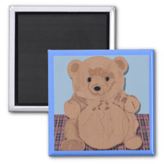 Imán del oso de peluche del oso de Wes T