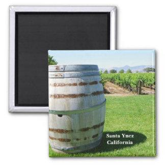 ¡Imán del país vinícola de Santa Ynez! Imán Cuadrado