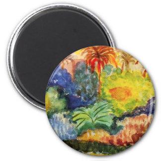 Imán del paisaje de Gauguin Tahitian