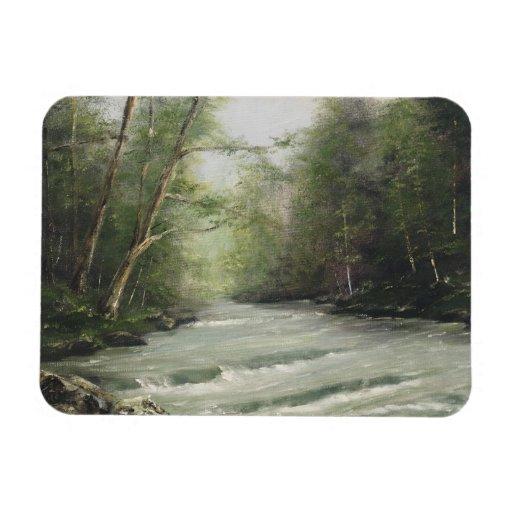 Imán del paisaje del río del balanceo