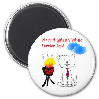 Imán del papá de Terrier blanco de montaña del oes