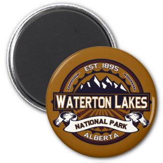 Imán del parque nacional de los lagos Waterton